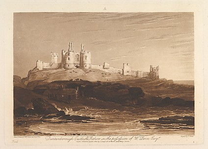 Dunstanborough Castle, from Liber Studiorum, part III
