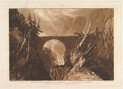 Little Devil's Bridge over the Russ, above Altdorft, Swiss-d, from Liber Studiorum, part IV