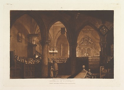 Interior of a Church, from Liber Studiorum, part XIV