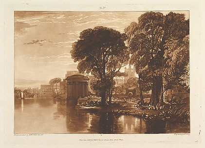 The Alcove, Isleworth, from Liber Studiorum, part XIII