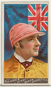 Charles Wood, Jockey, from the Goodwin Champion series for Old Judge and Gypsy Queen Cigarettes