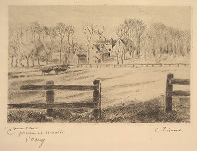 Field and Mill at Osny, 1885