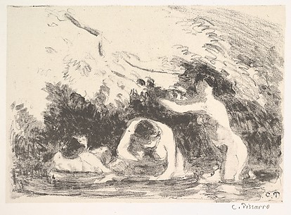 Bathers in the Shade of Wooded Banks (from L'Estampe originale, Album IX)