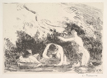 Bathers in the Shade of Wooded Banks