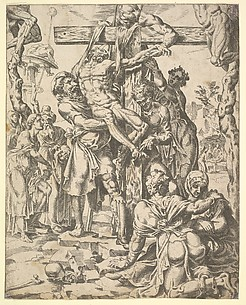 The Descent from the Cross, from The Fall and Salvation of Mankind through the Life and Passion of Christ, plate 27