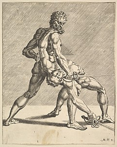 Two Fencers, from Fencers, plate 8