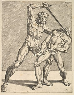 Two Fencers, from Fencers, plate 7