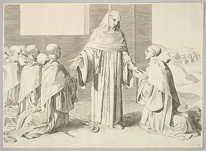 St. Bernard Presenting the Rule