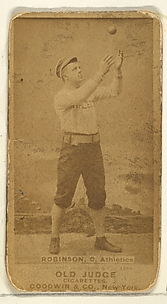 Robinson, Catcher, Philadelphia Athletics, from the Old Judge series (N172) for Old Judge Cigarettes