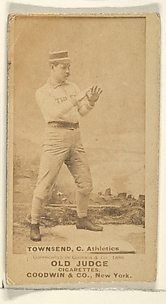 Townsend, Catcher, Philadelphia Athletics, from the Old Judge series (N172) for Old Judge Cigarettes