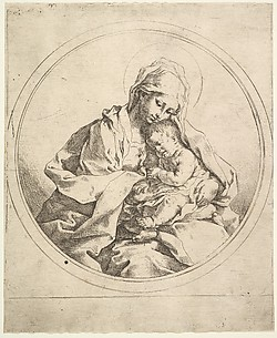 The Madonna and Child in the Round