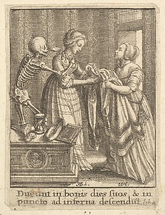 Bride, (Douce's Countess), from the Dance of Death