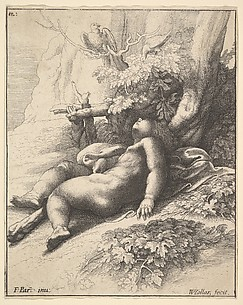 Infant Hercules asleep, after Parmigianino