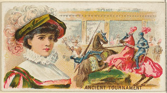 Ancient Tournament, from the Games and Sports series (N165) for Old Judge Cigarettes
