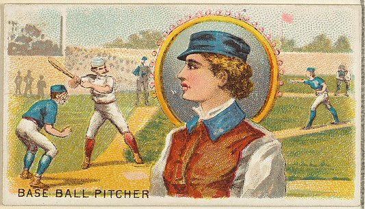 Baseball Pitcher, from the Games and Sports series (N165) for Old Judge Cigarettes