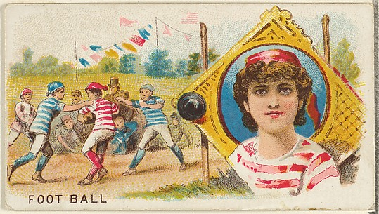 Football, from the Games and Sports series (N165) for Old Judge Cigarettes