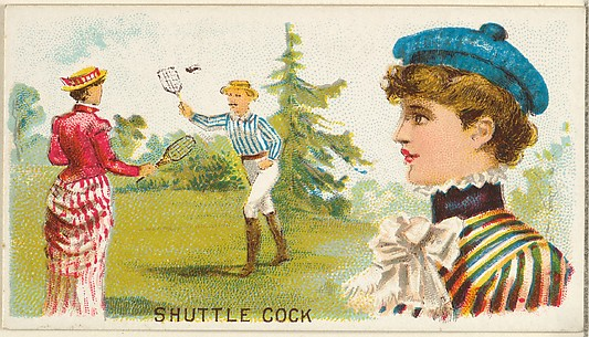 Shuttlecock, from the Games and Sports series (N165) for Old Judge Cigarettes