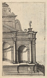 Partial View of a Monument from the series Ruinarum variarum fabricarum delineationes pictoribus caeterisque id genus artificibus multum utiles