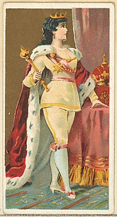 King of the Amazons, from the Occupations for Women series (N166) for Old Judge and Dogs Head Cigarettes