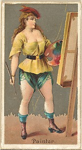 Painter, from the Occupations for Women series (N166) for Old Judge and Dogs Head Cigarettes