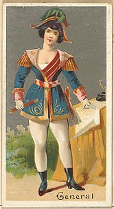General, from the Occupations for Women series (N166) for Old Judge and Dogs Head Cigarettes