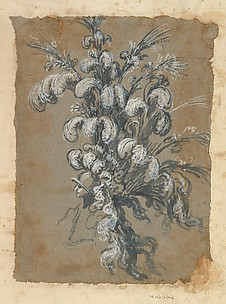 Design for a Lavish Headdress with Feathers on a Helmet