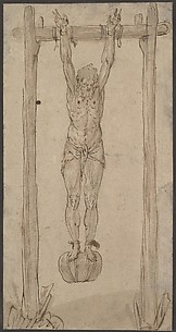 A Man Hanging by His Arms (the Corpse of the King?)