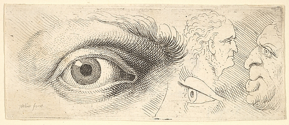 Two Eyes and Two Heads, from the series of Anatomical Drawings