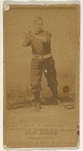 Trott, Catcher, Baltimore Orioles, from the Old Judge series (N172) for Old Judge Cigarettes