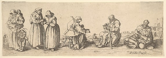 Six Men and Women Beggars