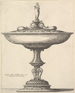 A Wide Cup with Ornamental Stem