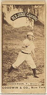 Henderson, Pitcher, Brooklyn, from the Old Judge series (N172) for Old Judge Cigarettes