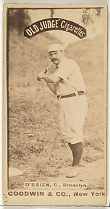 O'Brien, Catcher, Brooklyn, from the Old Judge series (N172) for Old Judge Cigarettes
