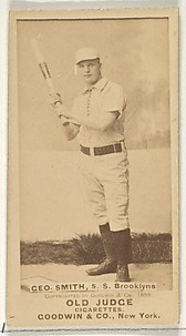 Geo. Smith, Shortstop, Brooklyn Bridegrooms, from the Old Judge series (N172) for Old Judge Cigarettes