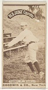 Terry, Pitcher, Brooklyn, from the Old Judge series (N172) for Old Judge Cigarettes