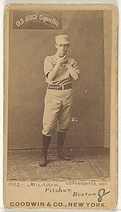 Madden, Pitcher, Boston, from the Old Judge series (N172) for Old Judge Cigarettes