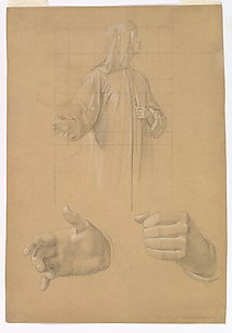 Study of a Standing Man with Headcloth and Two Studies of his Hands