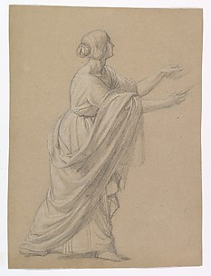 Study of a Woman Walking to the Right