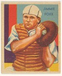 Jimmie Foxx, from the Diamond Stars series (R327) for the National Chicle Gum Company