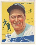 Lou Gehrig, New York Yankees, from the Big League Chewing Gum series (R320) for the Goudey Gum Company