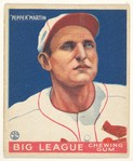 John (Pepper) Martin, St. Louis Cardinals, from the Big League Chewing Gum series (R319) for the Goudey Gum Company