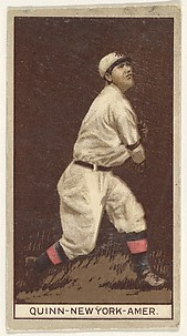 Quinn, New York, American League, from the Brown Background series (T207) for the American Tobacco Company