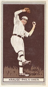 Krause, Philadelphia, American League, from the Brown Background series (T207) for the American Tobacco Company