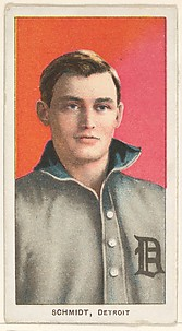 Schmidt, Detroit, American League, from the White Border series (T206) for the American Tobacco Company
