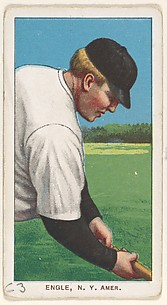 Engle, New York, American League, from the White Border series (T206) for the American Tobacco Company