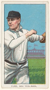 Ford, New York, American League, from the White Border series (T206) for the American Tobacco Company