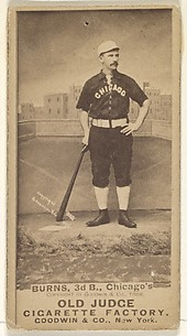 T.C. Burns, 3rd Base, Chicago, from the Old Judge series (N172) for Old Judge Cigarettes