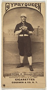Ceiss, Pitcher, Chicago, from the Old Judge series (N172) for Old Judge and Gypsy Queen Cigarettes