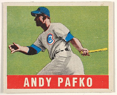 Andy Pafko, Chicago Cubs, from the All-Star Baseball series (R401-1), issued by Leaf Gum Company