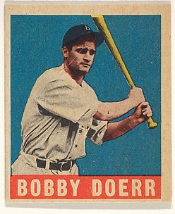 Bobby Doerr, Boston Red Sox, from All-Star Baseball series (R401-1), issued by Leaf Gum Company